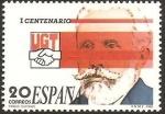 Stamps Spain -  2948 - I Centº de la Unión General de Trabajadores, Pablo Iglesias