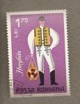 Sellos de Europa - Rumania -  Trajes regionales:Harguita