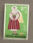 Stamps Romania -  Trajes regionales:Gorj