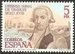 Sellos de Europa - España -  2536 - defensa naval de tenerife, siglo XVIII; general antonio gutierrez