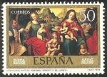 Stamps of the world : Spain :  2542 - dia del sello, juan de juanes (IV centº. de su muerte, desposorios misticos del venerable agn