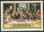 Stamps of the world : Spain :  2541 - dia del sello, juan de juanes (IV centº de su muerte, santa cena