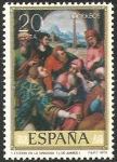 Stamps of the world : Spain :  2540 - dia del sello, juan de juanes (IV centº de su muerte), san esteban en la sinagoga