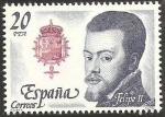 Stamps : Europe : Spain :  2553 - Rey de España, Casa de Austria, Felipe II