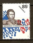 Sellos de America - Venezuela -  Bernardo O´Higgins