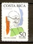 Stamps Costa Rica -  Gandhi