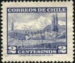 Sellos de America - Chile -  Volcán CHOSHUENCO.