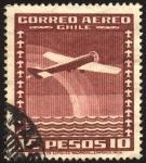 Sellos de America - Chile -  Aeroplano y arcoiris.