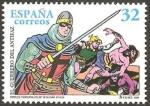 Stamps Spain -  3487 - El Guerrero del Antifaz, personaje de tebeo