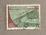 Stamps India -  Presa Hirakud