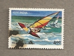 Stamps India -  Tabla surfing