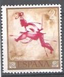 Sellos de Europa - España -  1784 Homenaje al pintor desconocido. Saltadora.