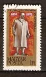 Sellos de Europa - Hungría -  Estatua de Lenín