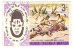 Sellos del Mundo : Africa : Kenya : cazando