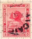 Stamps : Africa : Egypt :  esfinge