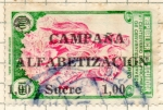 Stamps : America : Ecuador :  alfavetizacion