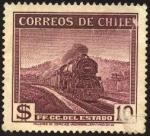 Sellos de America - Chile -  Ferrocarril,