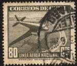 Stamps America - Chile -  LAN Avión bimotor. Impreso al pie  Especies valoradas-Chile.