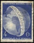 sellos de America - Chile -  LAN CHILE, homenaje a J. F. Kennedy, Alianza para el Progreso.