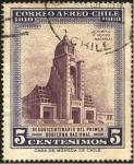 Stamps Chile -  TEMPLO VOTIVO NACIONAL. Sequiscentenario del primer gobierno nacional.