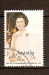 Stamps Australia -  Reina Elizabeth II