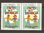 Stamps Colombia -  Niños