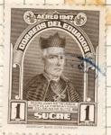 Stamps Ecuador -  padre vela