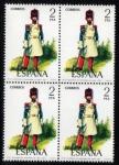 Stamps Spain -  1976 B4 Uniformes Militares: Gastador de Infanteria de Linea 1821 Edifil 2351