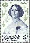 Stamps of the world : Spain :  ESPAÑA 1978 2502 Sello Nuevo Reyes de España Casa de Borbon Isabel II
