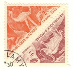Stamps of the world : Chad :  dinosaurios
