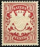 Stamps Germany -  Baviera