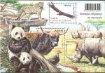 Stamps France -  H.B. animales desaparecidos o amenazados