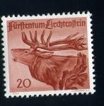 Stamps Liechtenstein -  Ciervo