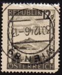 Stamps Austria -  1945 El Schafberg y el lago de Mond