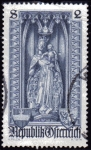 Stamps Austria -  1969 V Centenario de la Diocesis de Viena: Virgen con Manto