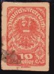Stamps Europe - Austria -  1919 Escudo, variedad sin dentar