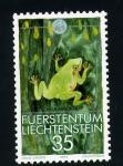 Sellos de Europa - Liechtenstein -  hyla arborea