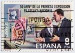 Stamps Spain -  50 aniversario de la primera exposición filatélica nacional