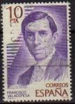 Sellos de Europa - España -  ESPAÑA 1979 2514 Sello Personajes Españoles. Francisco Villaespesa (1877-1936) Usado
