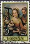 Stamps Spain -  ESPAÑA 1979 2538 Sello Día del Sello. Juan de Juanes IV Cent. de su Muerte Sagrada Familia Usado