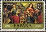 Stamps Spain -  ESPAÑA 1979 2542 Sello Día del Sello. Juan de Juanes IV Cent. de su Muerte Desposorios Místicos del
