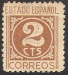 Stamps : Europe : Spain :  815 - Cifra