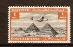 Sellos del Mundo : Africa : Egipto : AVIÓN  SOBRE  PIRÁMIDE  DE  GIZZA