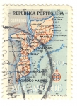 Stamps Africa - Mozambique -  mapa
