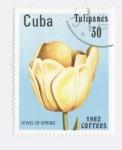 Stamps : America : Cuba :  Tulipanes - Jewel of spring -