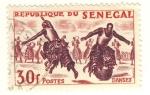 Stamps Africa - Senegal -  danzas