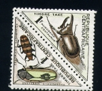 Stamps Africa - Central African Republic -  insectos autoctonos