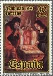 Sellos de Europa - España -  ESPAÑA 1981 2634 Sello Nuevo Navidad Nacimiento de Juan de Flandes Yvert2267 Scott2254
