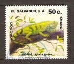 Sellos de America - El Salvador -  IGUANA