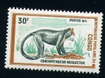 Stamps Africa - Republic of the Congo -  Cercopithecus neglectus